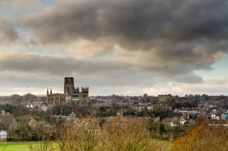 Durham Castle and Cathedral in the Durham City skyline  Stock Photo - 24581861
