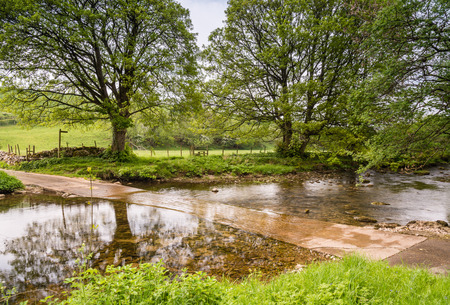 scandal: A River Ford Crossing over the Scandal Beck in Eden Valley