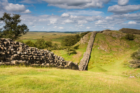 Hadrians Wall near Walltown Stock Photo