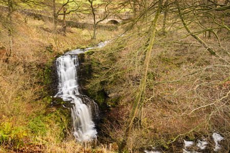 settle: Scaleber Foss  Scaleber Force or Foss waterfall near Settle in the Yorkshire Dales National Park