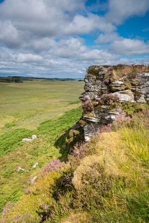the crags: Wanney Crags - Great Wanney Crag on the edge of Northumberland National Park is a remote escarpment popular with rock climbers