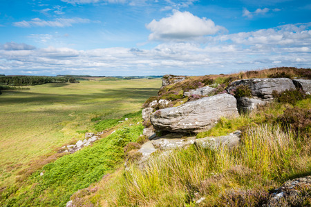 the crags: East View from Wanney Crags - Great Wanney Crag on the edge of Northumberland National Park is a remote escarpment popular with rock climbers