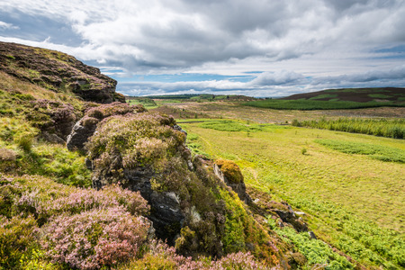 the crags: West View from Wanney Crags - Great Wanney Crag on the edge of Northumberland National Park is a remote escarpment popular with rock climbers