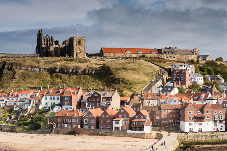 199 Steps to Whitby Churches  Whitbys famous 199 Steps lead from the town up to the churches of St Mary and the Abbey which dominate the skyline above the harbour