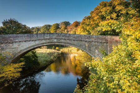major battle: Twizel Bridge in Autumn - Built in 1511 the medieval Twizel Bridge played a major part in the build up to the Battle of Flodden. It crosses the River Till in the border country of Northumberland