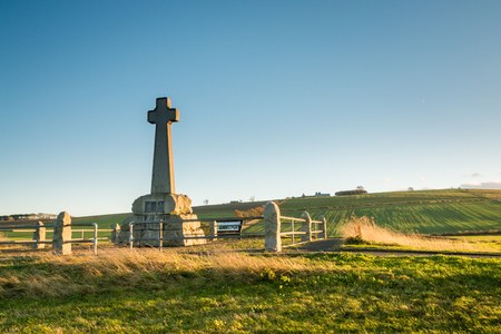 battle cross: Flodden Field Monument - In 1513 next to Branxton Village the Battle of Flodden Field took place. The cross is a Monument on Pipers Hill