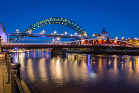 The iconic bridges over the River Tyne between Newcastle and Gateshead
