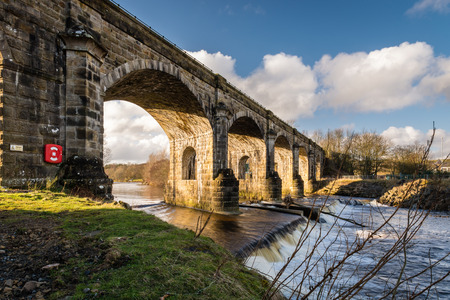Haltwhistle Skew Arches Viaduct - Haltwhistle Railway Viaduct also known as Alston Arches was constructed in 1851 with six skew arches to cross the South Tyne River
