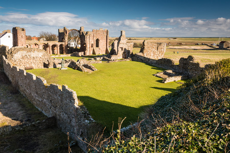 priory: Ruins of Lindisfarne Priory - Now in ruins the Lindisfarne Priory is said to be the start of Christianity in Briton through St Aidon and later St Cuthbert