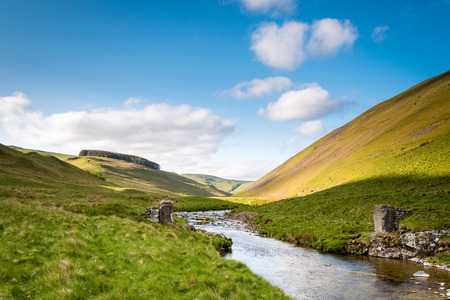 River Coquet flows from Cheviot Hills - The River Coquet winds its way through Coquetdale Valley in the Cheviot Hills