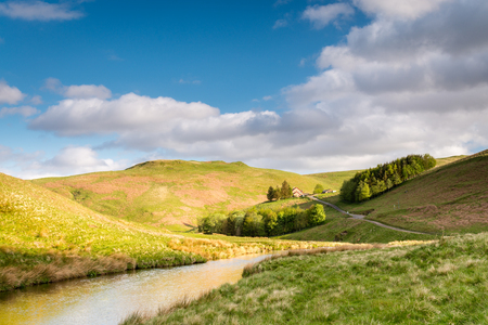 Upper Coquetdale Valley - The River Coquet winds its way through Coquetdale Valley in the Cheviot Hills