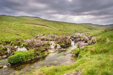 Multiple falls in Coquetdale - The River Coquet winds its way through a remote Coquetdale Valley in the Cheviot Hills