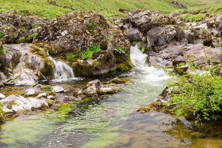 Upper Coquetdale Waterfalls - The River Coquet winds its way through a remote Coquetdale Valley in the Cheviot Hills