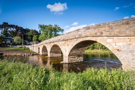 downstream: Pauperhaugh Bridge - Pauperhaugh Bridge just downstream from Rothbury town, on the River Coquet in Northumberland