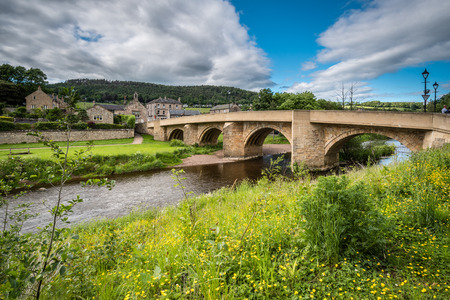 Road Bridge at Rothubury - The road bridge over the River Coquet leads into the town of Rothbury, Northumberland