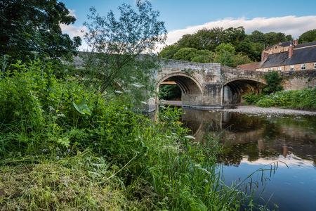 Felton Old Bridge - Felton, a small village in Northumberland, with an old bridge over the River Coquet, now closed to traffic