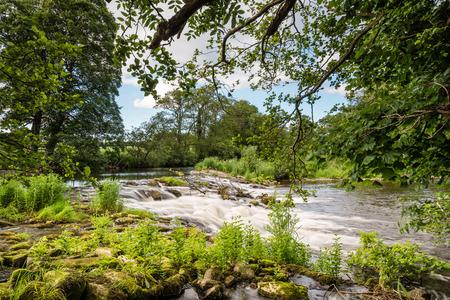 Weir near Weldon - A short walk from Weldon in Northumberland, through a riverside woodland, is this weir in the River Coquet