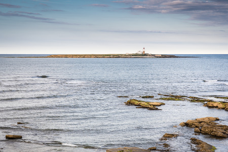 Coquet Island Nature Reserve, is a small island just off the Northumberland coast at Amble, and is home to many seabirds Stock Photo - 62405801