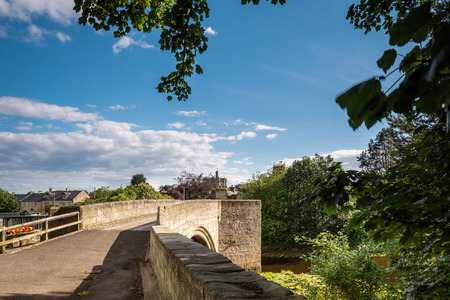 Warkworth Old Bridge, is medieval and one of just two fortified bridges in Briton,