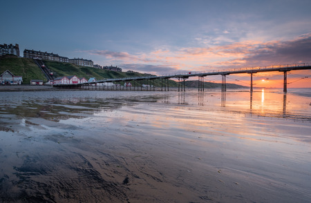 surviving: Saltburn at Sunset - Saltburn by the Sea is a Victorian seaside resort, with a pier that is the most northerly  surviving British Pier