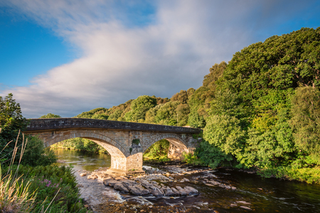 2 way: Eals Bridge over River South Tyne - Eals Bridge is grade 2 listed, and is a two-arched stone road bridge over the River South Tyne, mid way between Alston and Haltwhistle in Northumberland