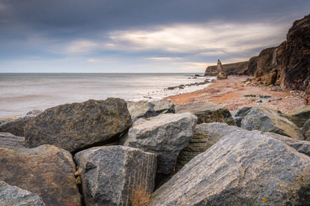 Chemical Beach at Seaham - Dawdon Chemical Beach, got its name from the former Seaham Chemical Works and is located on the Durham coastline south of Seaham, with its Magnesian Limestone Stack