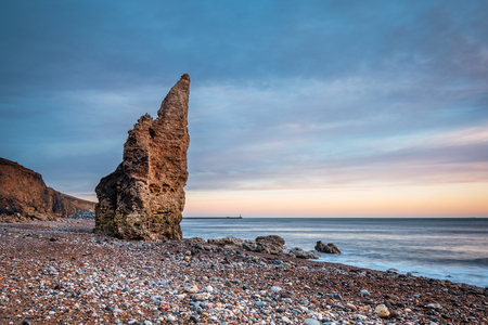 Sea Stack on Chemical Beach - Dawdon Chemical Beach, got its name from the former Seaham Chemical Works and is located on the Durham coastline south of Seaham, with its Magnesian Limestone Stack
