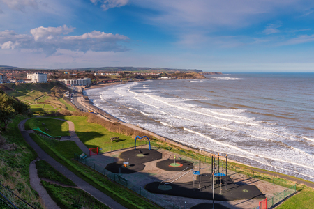 Scarboroughs North Bay - Scarborough is a town on the North Sea coast of North Yorkshire.  Castle Hill separates the seafront into two bays to the North and South