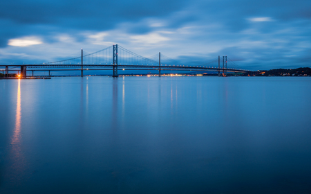 Forth Road Bridges at Night, the Queensferry Crossing is a road bridge in Scotland, built alongside the existing Forth Road Bridge across the Firth of Forth between South Queensferry and North Queensferry