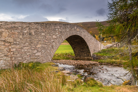 drive through: Gairnshiel Bridge, on the Snow Road or Old Military Road which is a scenic drive through the Cairngorms National Park, it crosses the River Gairn