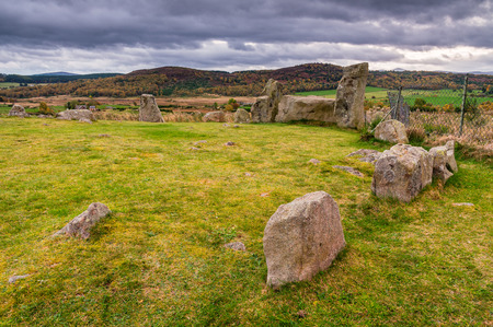 Standing Stones of Tomnaverie, which is a Recumbent Stone Circle, a monument found only in the North East of Scotland