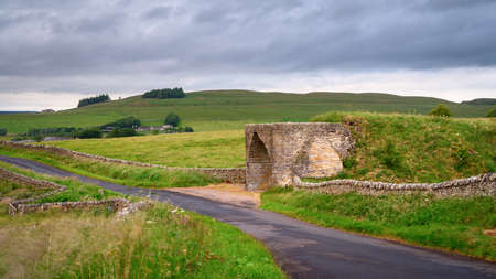Limekiln at Crindledykes, which is one of several built in this area around Hadrian's Wall in Northumberland and is a Grade ll Listed Building Stock Photo