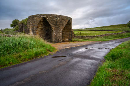 Crindledykes Limekiln near Vindolanda, is one of several built in this area around Hadrian's Wall in Northumberland and is a Grade ll Listed Building Stock Photo