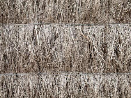 brushwood: detail of thatched heather brushwood fence Stock Photo
