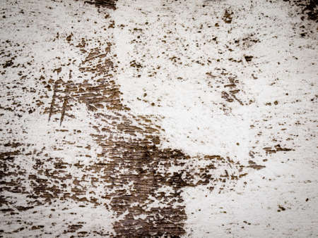 flaking: aged weathered wood with flaking white paint Stock Photo