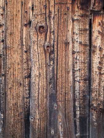 knotty: background of knotted aged heavily grained pine shutter boards Stock Photo