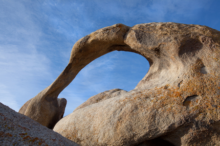 rock arch: A natural rock arch in The Alabama Hills, California.