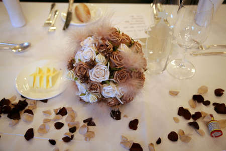 A wedding table with decoration Stock Photo - 2286512