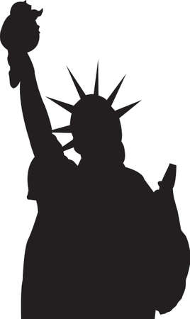 vector silhouette Statue of Liberty