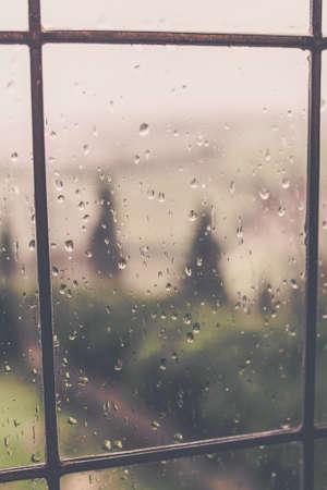 Water drops on the window Фото со стока