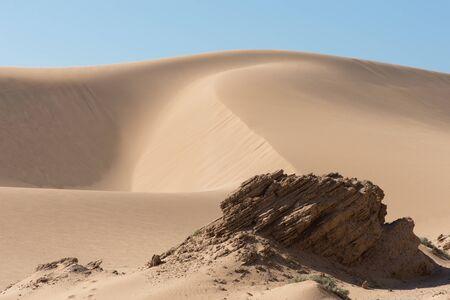 Moroccan Desert scene with vivid blue sky