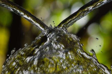 Two streams of water colliding Banco de Imagens