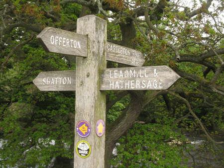 derbyshire: Footpath sign in Derbyshire