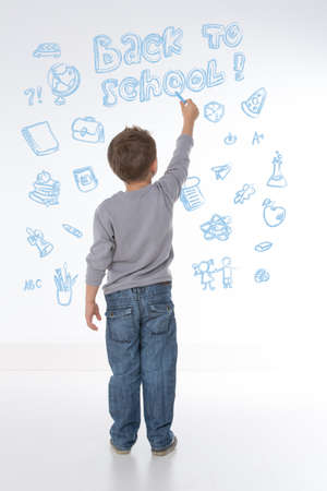 young child happy to learn new things and words