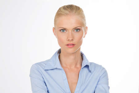 smyslné krásná žena na izolované pozadí Reklamní fotografie