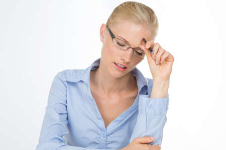 Femme blonde qui avait assez Banque d'images - 34736564