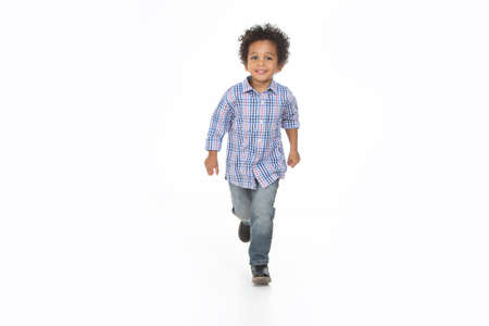 african kid smile and posing on a isolated background Imagens