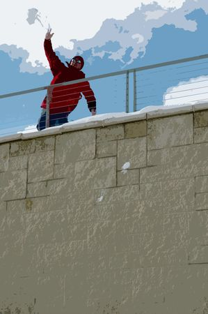 Snowball Fight Stok Fotoğraf