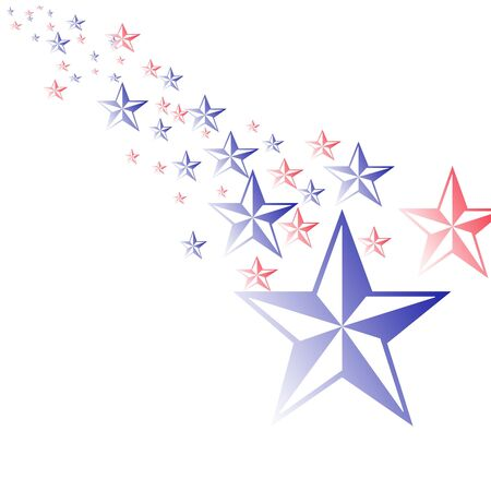 Red White and Blue Stars illustration Фото со стока