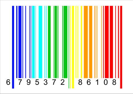 Een typisch barcode, maar in regenboog kleuren Stockfoto - 4379279